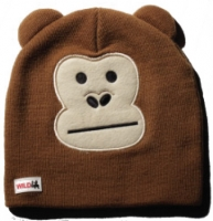 Шапка дет ELM (WildLife) Monkey (BROWN, one size)