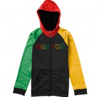 Burton BOYS BONDED HOODIE TRUE BLACK/BURNER