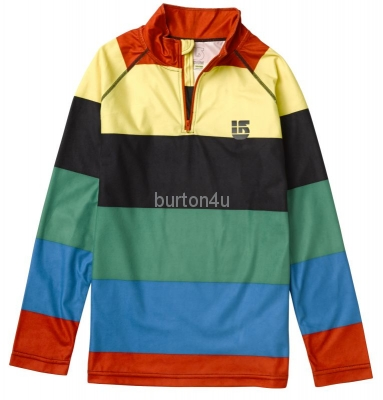 Burton BOYS EXPLORER 1/4 ZIP BURNER POP STRIPE