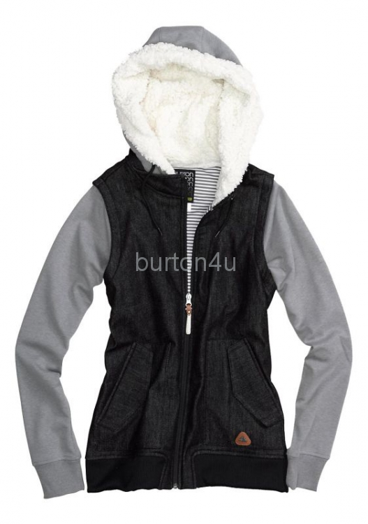 Burton ФЛИС WB PICKUP FLEECE TRUE BLACK HEATHER