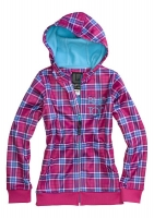 Burton 2013 ФЛИС GIRLS SCOOP HOODIE TART PUNKSTAR PLAID XL (youth)