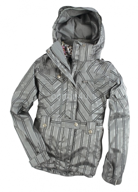 Куртка женская 686 WMS SMARTY PORT JACKET Grey Striped Jacquard