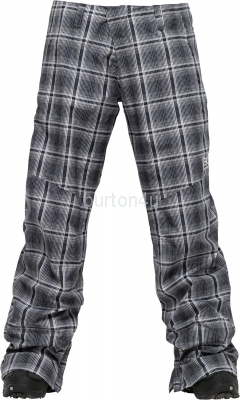 ШТАНЫ Burton W AK 2L STRATUS PT True Black Mad Plaid