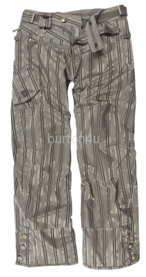 Штаны женские 686 WMS SMARTY LOWRISE PANT Grey Striped Jacguard