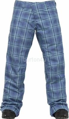ШТАНЫ Burton W AK 2L STRATUS PT BLUE SHROOM MAD PLAID